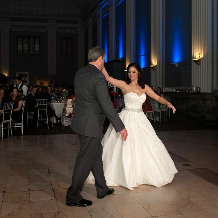 Father daughter dance twirl