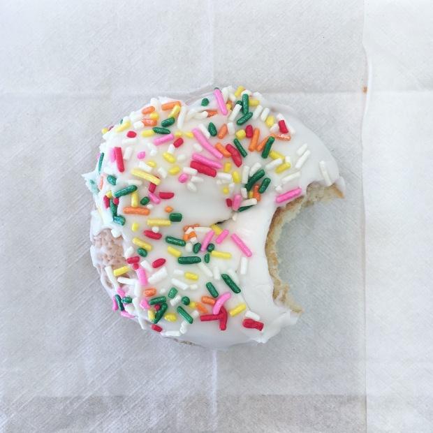 Rainbow sprinkle doughnut