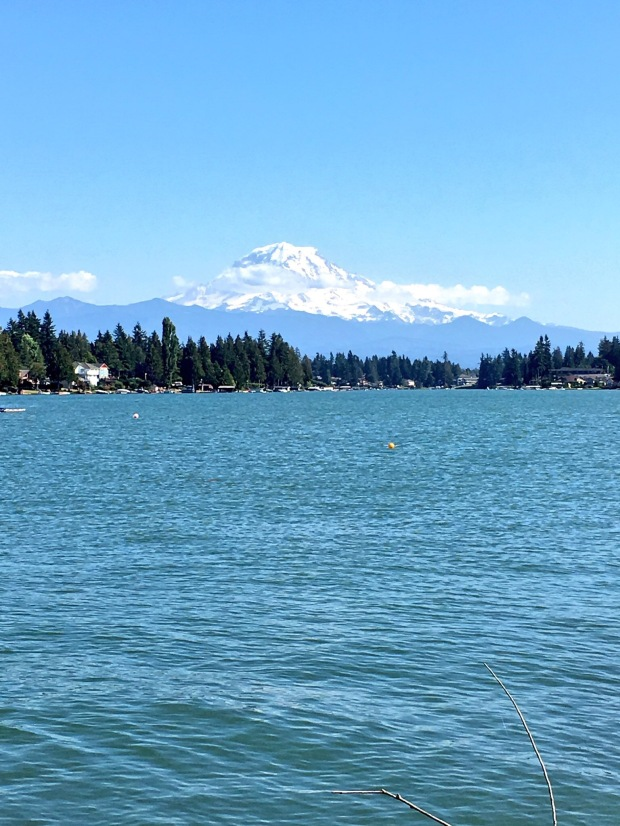 Lake Tapps and Mount Rainier