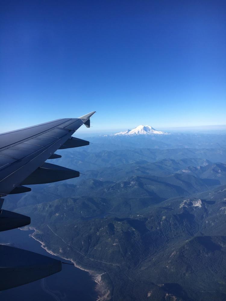 Mount Rainier from plane