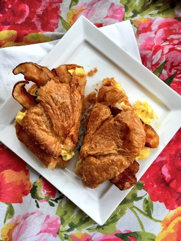 Breakfast sandwich at Amélie's