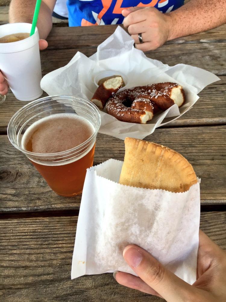 Apple pie and cider doughnut soft pretzel