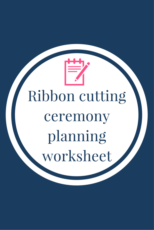 Ribbon cutting ceremony planning worksheet