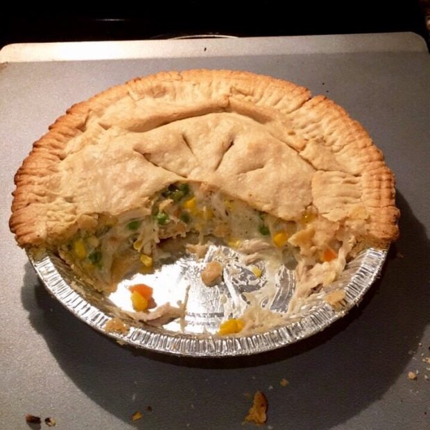 Turkey pot pie with Thanksgiving turkey
