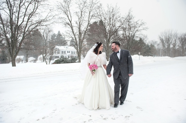 Winter wedding upstate NY