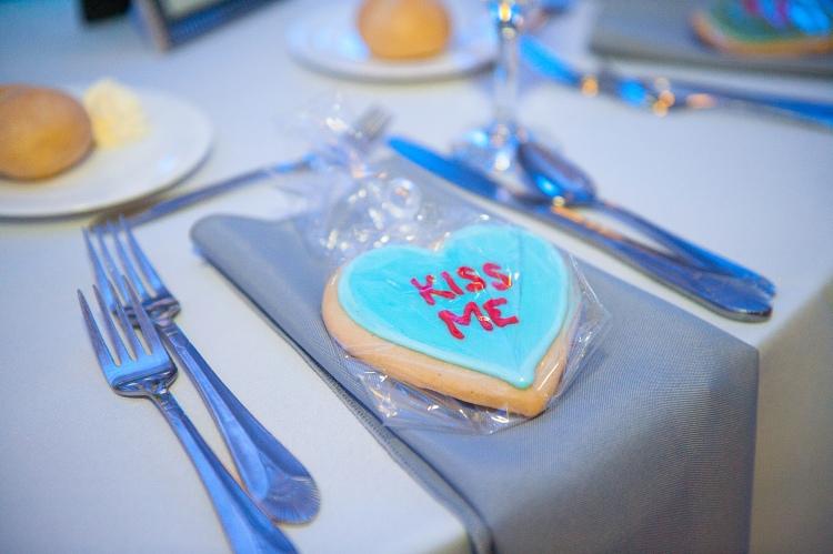 Conversation heart sugar cookie